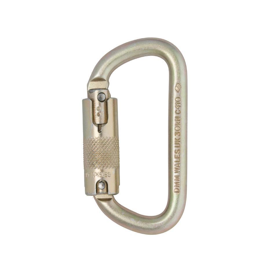 Steel 10mm Equal D Locksafe Carabiner