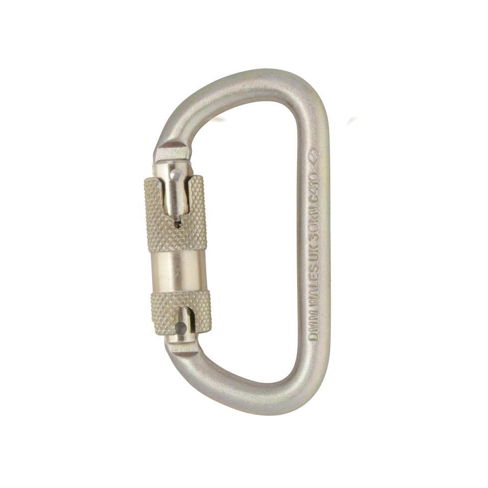 Steel 10mm Equal D Kwiklock Carabiner