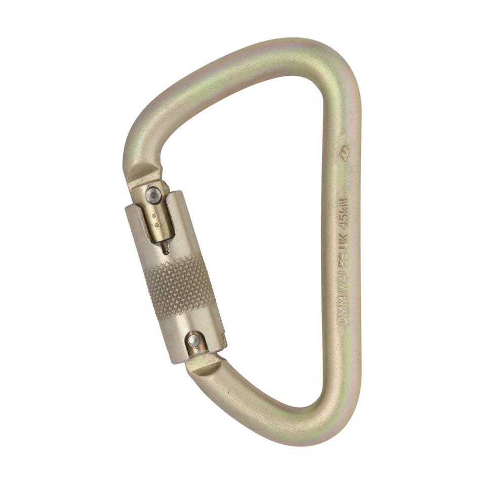 Steel Klettersteig Locksafe ANSI Carabiner