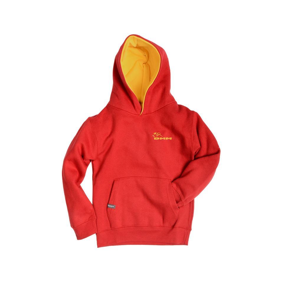 Kids Homework Hoodie Red Size 7-8