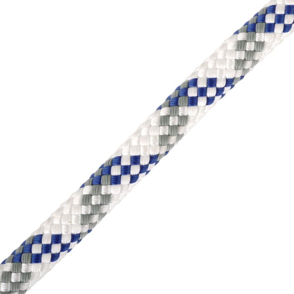 Worksafe 11mm white/blue/grey 100m
