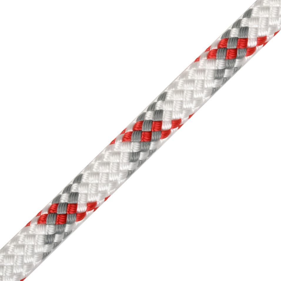Worksafe Plus 10mm white/red/grey 100m
