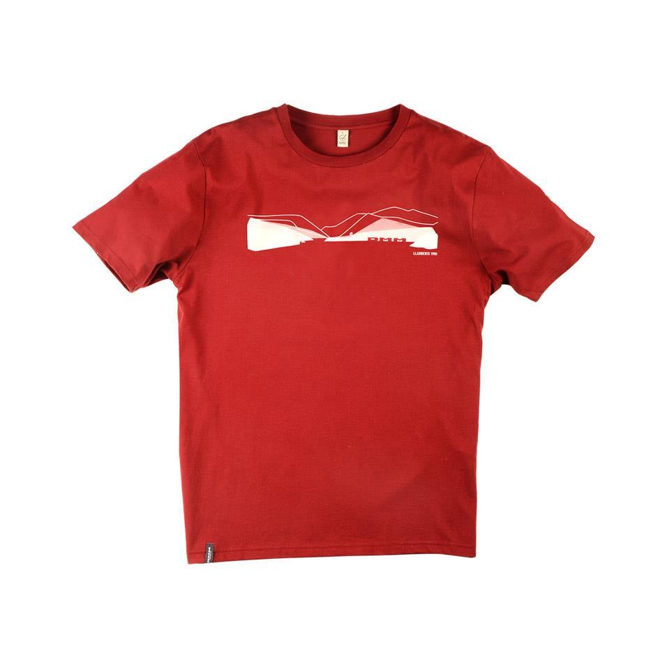Mens Pass T-shirt - Dark Red/White