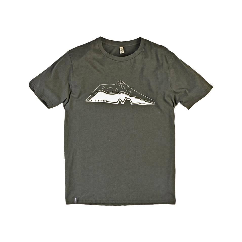 Mens Pick T Shirt Dark Green/White