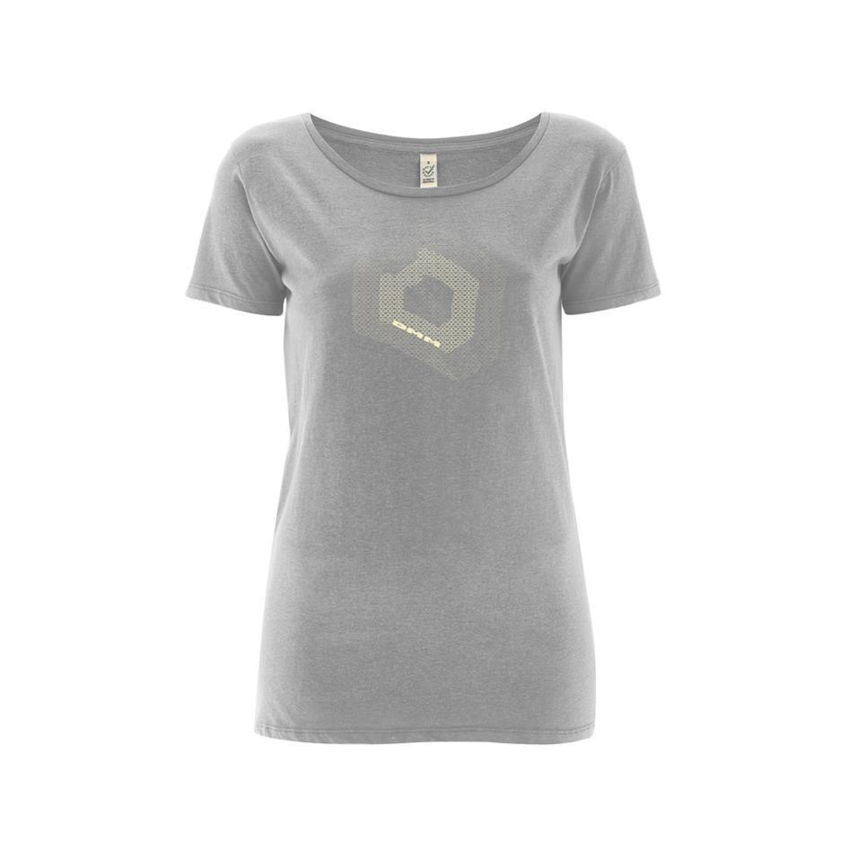 Womens Torque T-shirt Melange Grey/White